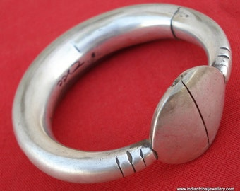 old silver bangle bracelet antique tribal belly dance