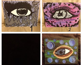 eye ball paintings: different sizes