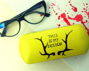 Eyeglass case Hannibal - This is my design - sunglasses case - hard glasses case - box for glasses - Hannibal inspired - Hannibal art