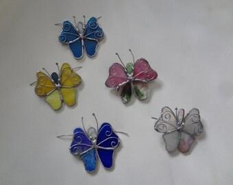 Stained Glass Screen Door Butterflies