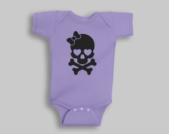Baby Girl Clothes - Skull, Baby Girl, Skull Baby Clothes, Baby Girl Romper, Baby Shower Gift, Baby Girl Gift, Baby Outfits For Girls