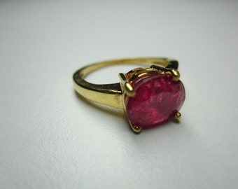 ruby ring sterling silver ,good looking woow