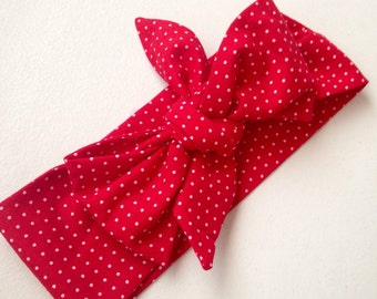 The Red Dotty Head Wrap
