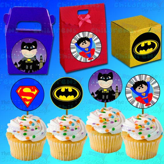photograph about Superhero Cupcake Toppers Printable identify Superhero Cupcake Printables Standing
