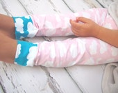 Baby leggings , girls clothing , cloud leggings, girls leggings , girls clothes , printed leggings , baby girl clothes , girls trousers