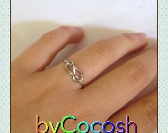 Knot ring. Sterling silver 925. Handmade ring. Sterling ring. Silver ring. Knot jewelry.bycocosh