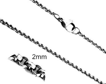 Rolo chain, stainless steel rolo chain, stainless steel chain, rolo chain, silver rolo chain,stainless steel chain,2mm rolo chain