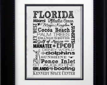Florida Home Decor Print