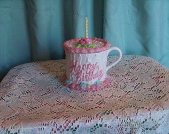 Birthday Cake Mug with Lid by Teleflora