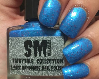The Blue Bird/ Blue glitter nail polish