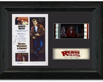 Rebel Without a Cause Film Cell 35 mm Film Cell Stunning display Signed James Dean