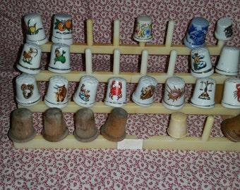 23 vintage thimbles
