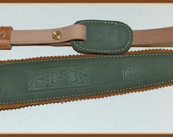 Gun Sling for Rifle or Shotgun, Hand Made Leather