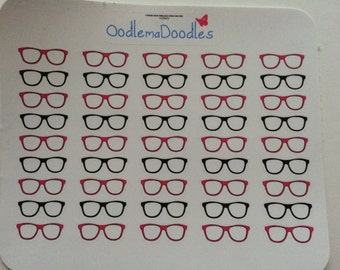 Functional Glasses Stickers: C35