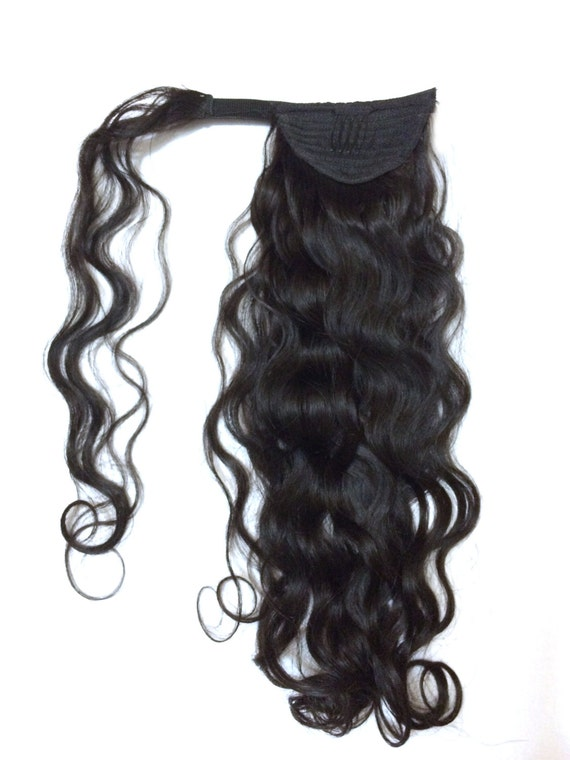 Remy Human Hair Wrap Around Ponytail Remy Indian Hair