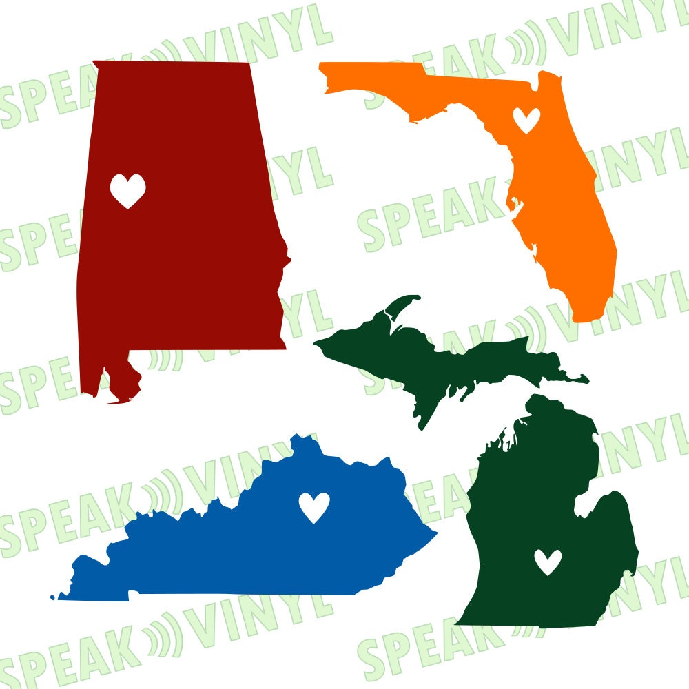 Choose Your Own Home State With Heart Hometown Vinyl By