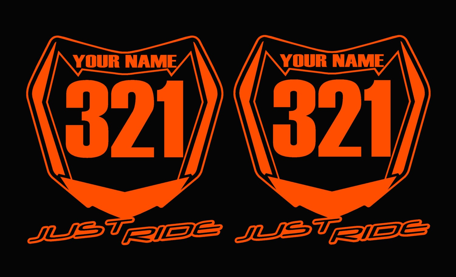 Vintage motocross number plate graphics -  Zoom