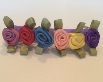 Flower Rose Barrette - 1 Piece