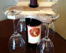 Rustic Wine Caddy Handcrafted ***1.99 US Shipping
