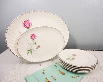 Vintage Rose Dinnerware/Serving Set