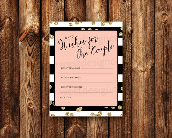 DIGITAL Wishes For The Couple Advice Cards Bridal Shower