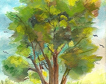 Mighty Oak - by Ruth J Okerlund, package of two note cards with envelopes