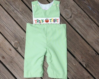 Smocked Halloween Longall, Smocked Longall, Smocked Boys Outfit