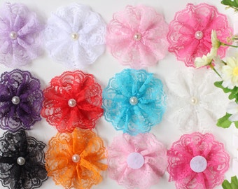Large Lace Flower Wedding Party Embellishment Craft Appliques Baby Headband 10cm