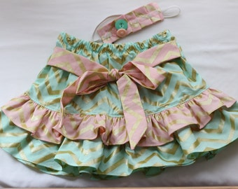 Frill skirt with matching headband