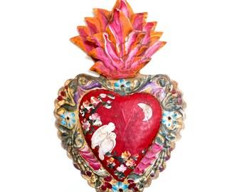 Milagro Tin Heart | Flame