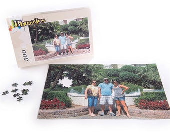 Extra Large 500 piece Custom Photo Jigsaw Puzzle, 12 x 19
