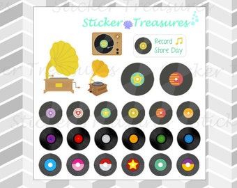Vinyl Records [Planner Stickers]
