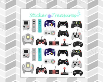 Customizable Modern & Retro Video Game Controllers [Planner Stickers]