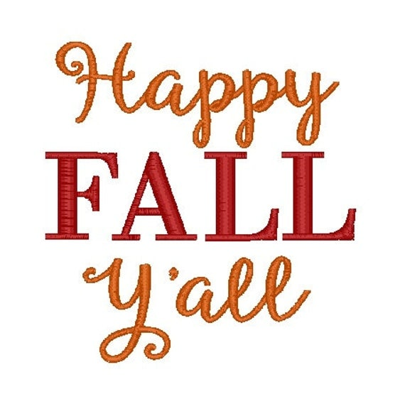 Items similar to Happy Fall Y'all PES Embroidery Design on ...