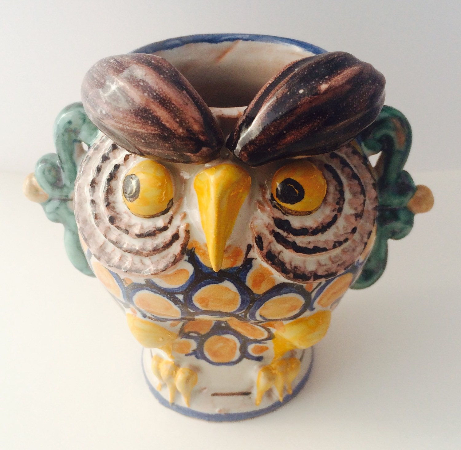 Ceramic Owl Vase Pen Holder Pencil Holder Toothbrush