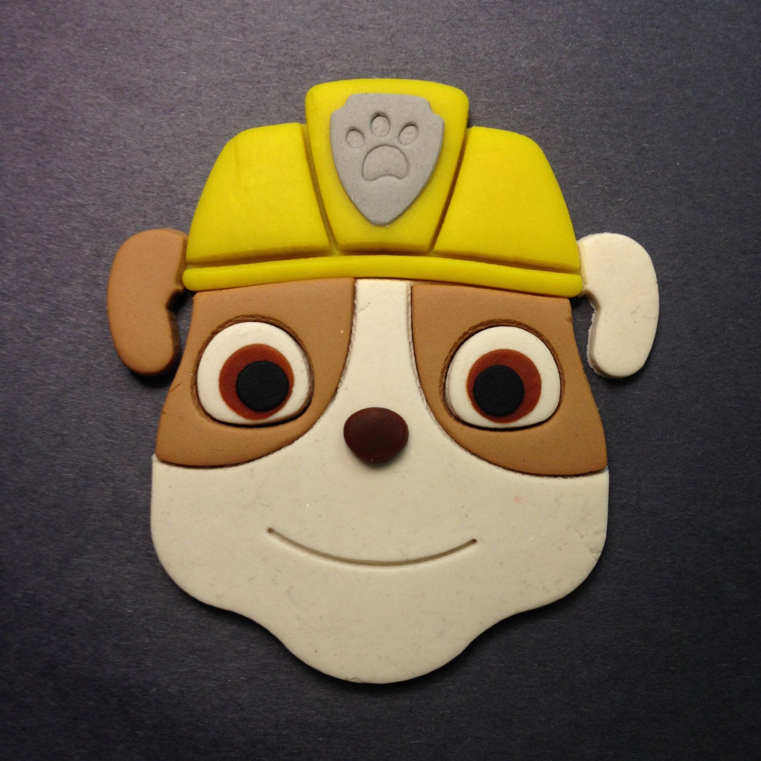 paw patrol rubble fondant and cookie cutter by. Black Bedroom Furniture Sets. Home Design Ideas