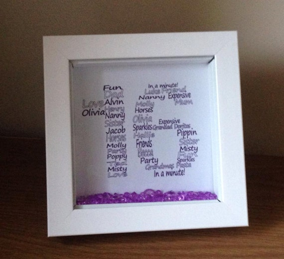 Personalised 16th Birthday Gift In A Shadow By