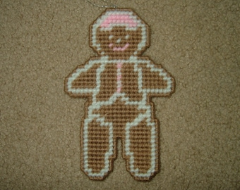 Gingerbread Man Cookie~Needlepointed Ornament