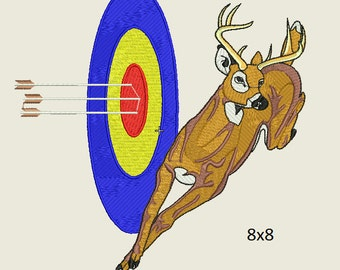 Archery Embroidery Design 2 sizes