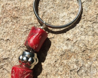 Red Coral keychain