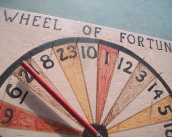 Wheel of Fortune Folk Art Game...Spin the Wheel & Win a Prize...