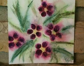 Purple Wild Geranium original watercolor painting