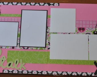 Girl Talk- 2 page scrapbook layout