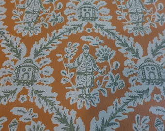 Vintage Wallpaper The Chinese Man Clay & Forest