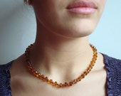 Madeira Citrine rondelles and 14 k gold filled granulated spacer beads and clasp