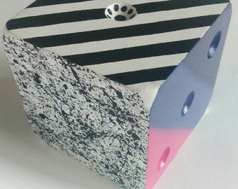 Large modern painted decoration dice