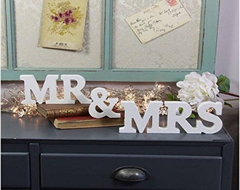 MR & MRS Wooden Letters Wedding Decoration / Present