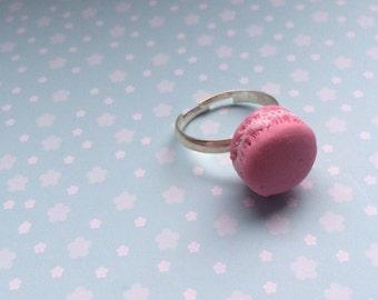 pink macaroon ring