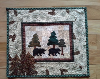 Bears taking a Stroll Wall Hanging