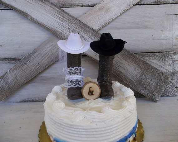 boot wedding cake topper rustic boot wedding cake topper cowboy boots wood slice 12096